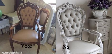 Hoe verf je een stoffen stoel of bank met krijtverf maison mansion - Hoe roze verf ...