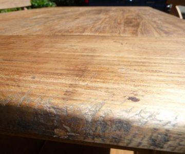 hout teak oud