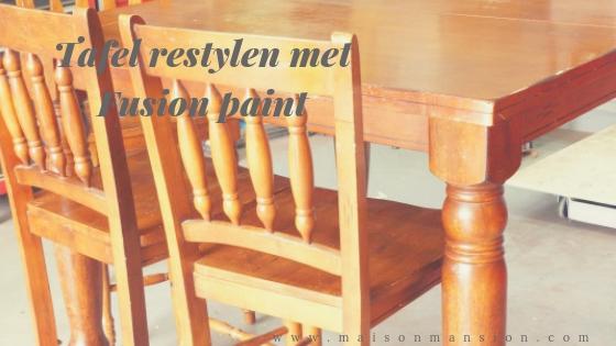 eethoek restylen zonder schuren met Fusion mineral paint Maisonmansion