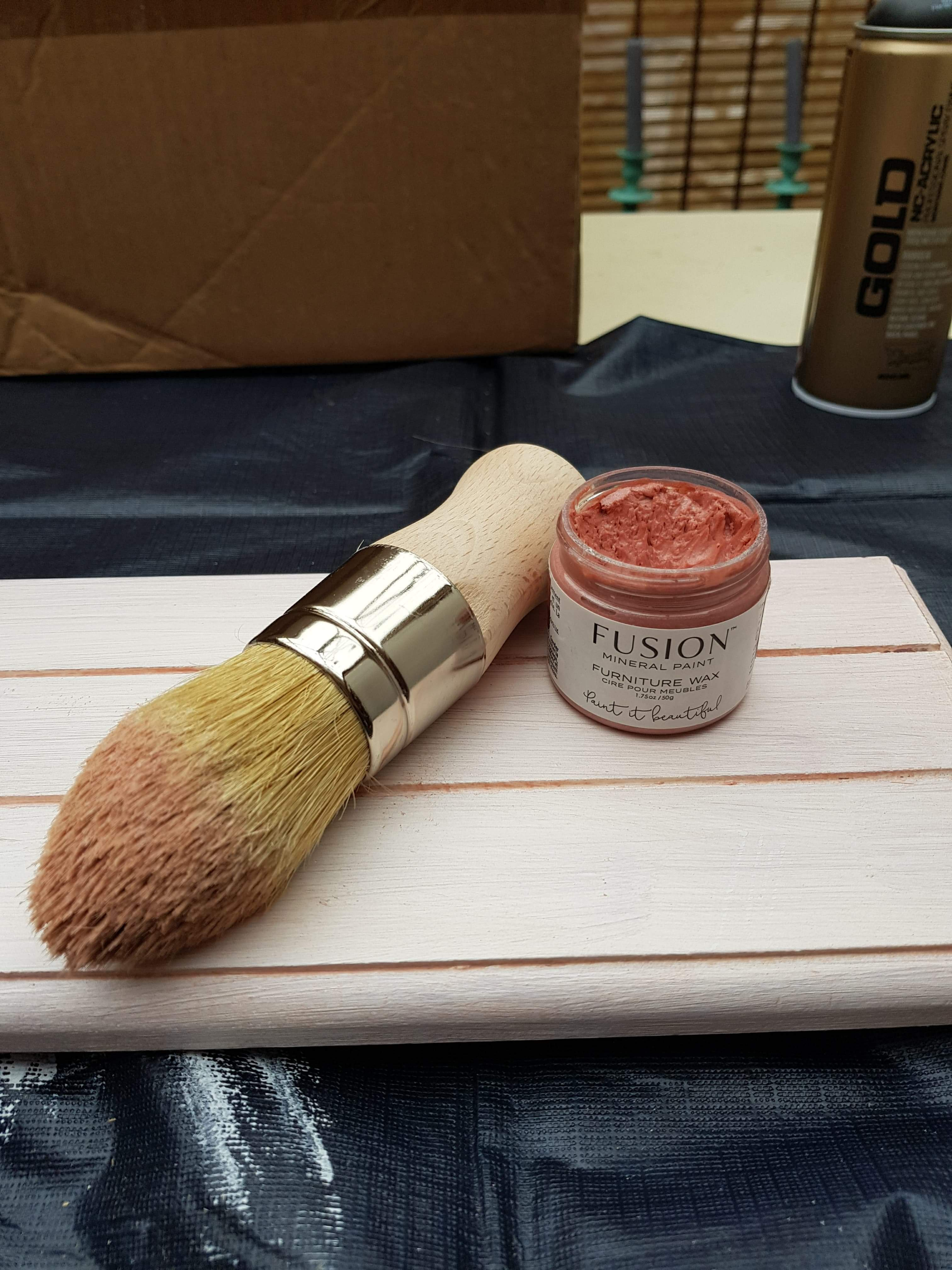 Fusion Mineral Paint Furniture Wax Pink Gold