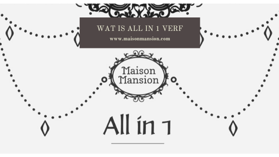 All in 1 matte verf maisonmansion